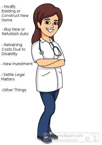 female physician with stethoscope clipart